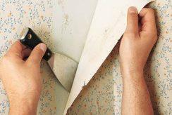نحوه کندن کاغذ دیواری روی دیوار