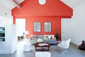رنگ آمیزی خانه با رنگ مرجانی