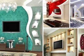 نصب کناف برای زیباسازی دیوار پشت تلوزیون