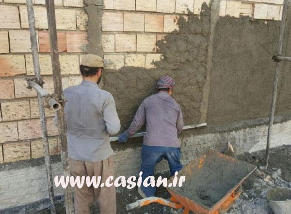 آموزش سیمان کاری نمای ساختمان
