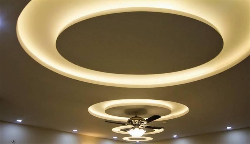 انواع نورپردازی سقف کاذب